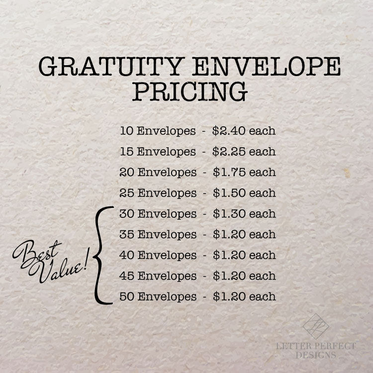 Young Love Personalized Gratuity Tipping Envelope