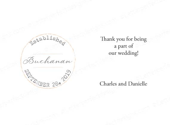 Established Personalized Gratuity Tipping Envelopes