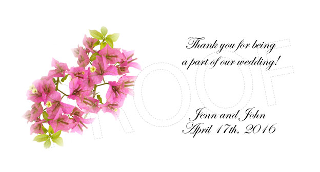 Pink Flowers Personalized Gratuity Tipping Envelopes