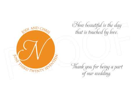 Sunshine Personalized Gratuity Tipping Envelopes
