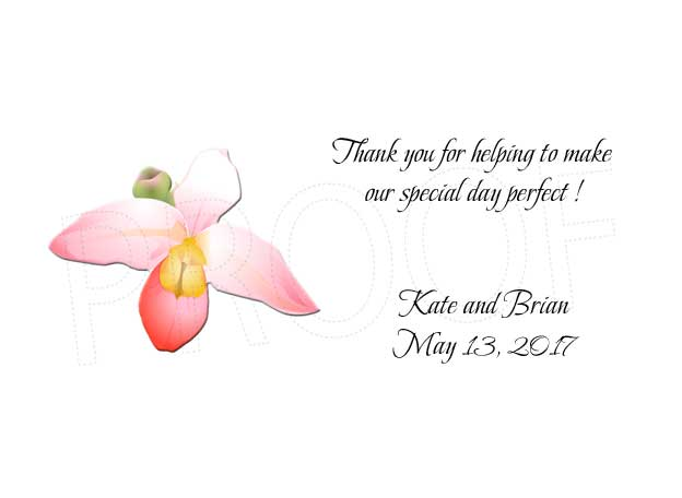 Orchid Personalized Gratuity Tipping Envelopes