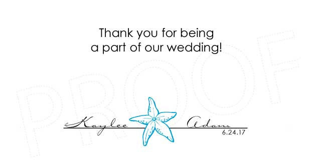 Beach Comber Personalized Gratuity Tipping Envelopes