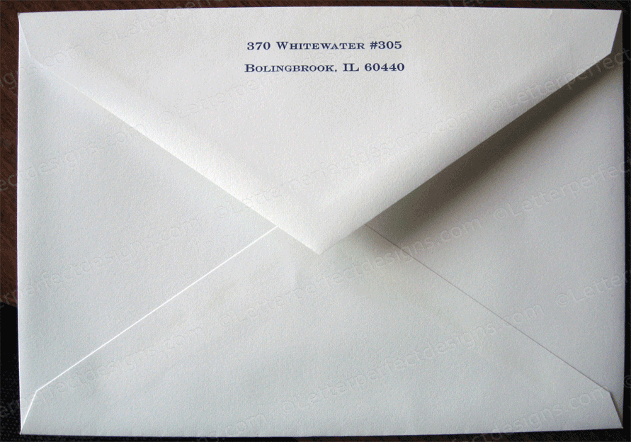Outer Envelope Return Address