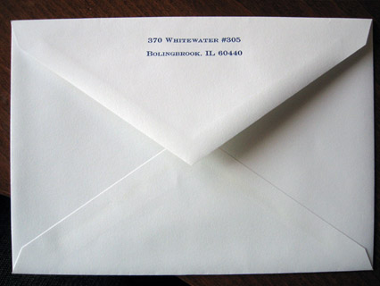Outer Envelope Return Address